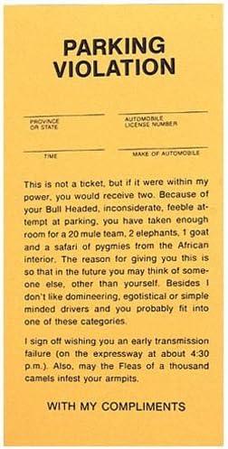 Fine joke parking 34 Funny