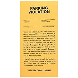 Fake Parking Tickets - Pad of 25 - Fun April Fools Day Prank