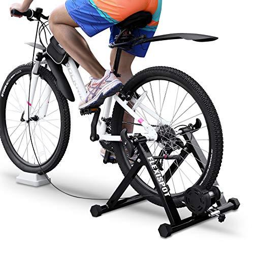 FLEXISPOT Fahrrad Rollentrainer Fahrrad Heimtrainer Stahl Heimtrainer Fahrrad Fahrrad Übung Magnetischer Ständer mit Geräusch Reduktions Rad