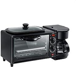 Machine de petit-déjeuner multifonction, machine à café, four électrique, mini-machine de petit-déjeuner 3 en 1, grille-pa...
