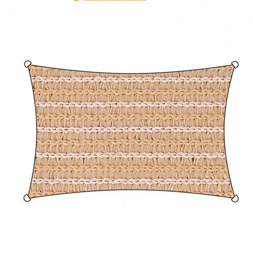 AHAI YU Sombra Sunblock Net Sombra Tela Resistente a los Rayos UV 90% Bloque UV Fiesta en el Patio del jardín al Aire Libre (Color : Orange, Size : 3.6×3.6×3.6M)