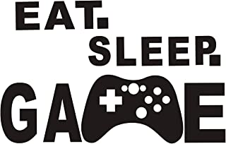 Gamer Wall Decals Eat Sleep Game Controller Video Game Wall Decals Kids Bedroom Vinyl Wall Art Decals