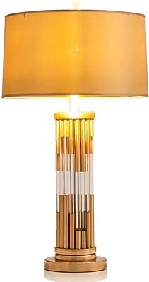 Lámpara de Mesa Buena Rendimiento de luz de transmisión Material de la Tela Amante Pantalla Diámetro Hermosa construcción (Color : Color): Amazon.es: Hogar