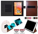 Hülle für Medion Lifetab S10346 (MD 98992) Tasche Cover Hülle Bumper | in Braun Leder | Testsieger