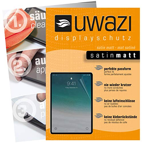 uwazi I 3X Satin-Matte Schutzfolie für Apple iPad Pro 12.9 Zoll (2018) Displayschutzfolie I Folie I Anti Fingerabdruck I Anti Kratzer