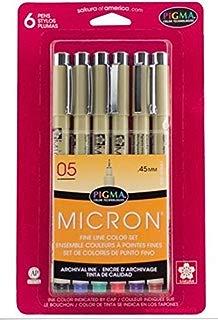 MICRON 6 PENS FINE LINE COLOR SET