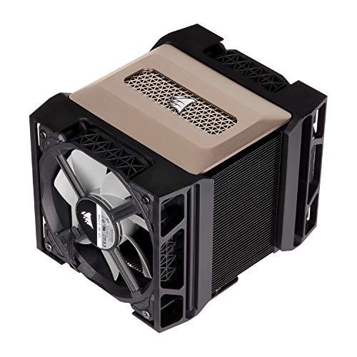 Corsair A500, Ventirad à Double Ventilateur Haute Performance (Refroidissent jusqu'à 250W TDP, Système de Support pour Ventilateur Intuitif de type glissière, Deux Ventilateurs Corsair ML120) Noir
