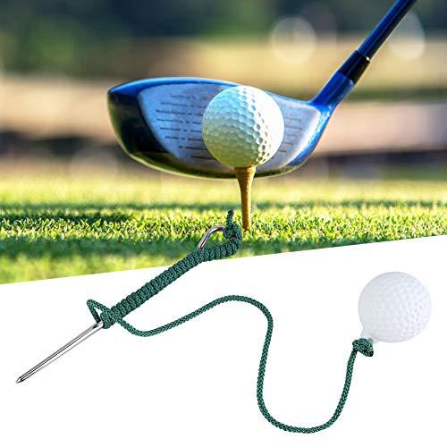 Josopa Golfschwung Seilball Ersatz Üben Golfball mit Schnur Golffliegenschwingen Training Seilball im Freien Golfclub Übungszubehör