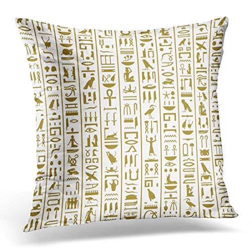 Federa per cuscino con motivo Faraone Antico Geroglifici Egiziani Egitto, decorazione per la casa, 45,5 x 45,7 cm