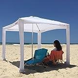 Cool Cabanas UPF 50,Providing 50+UV Protection,8 Pockets easy go coolcabana beach canopy sun shelter tent camping umbrella (Classic White)