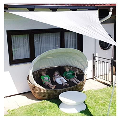 HANYU Toldo De Vela Solar Sombra Solar Vela, sombrilla Triangular, toldos for terraza jardín, Blanco Oxford paño Carpa de Camping (Color : White, Size : 3x3x3m)