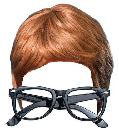 Party Central Austin Powers 2 Piece Fancy Dress Kit: Wig & Glasses