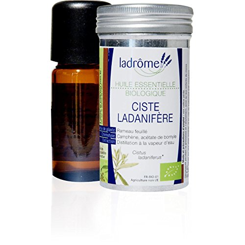 Ladrôme Huile Essentielle Ciste Ladanifère Bio, 10 ml