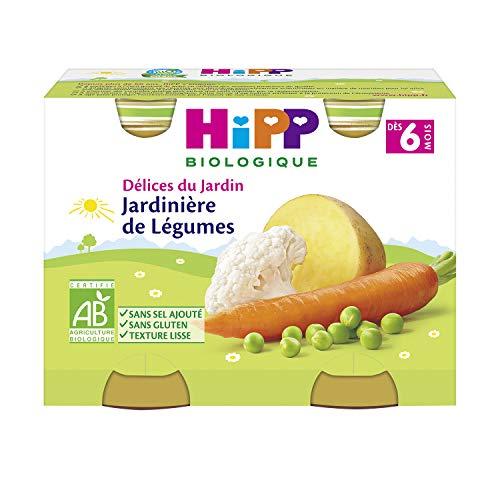 Hipp Biologique Jardinière de Légumes Dès 6 Mois 2 Pots de 190 g