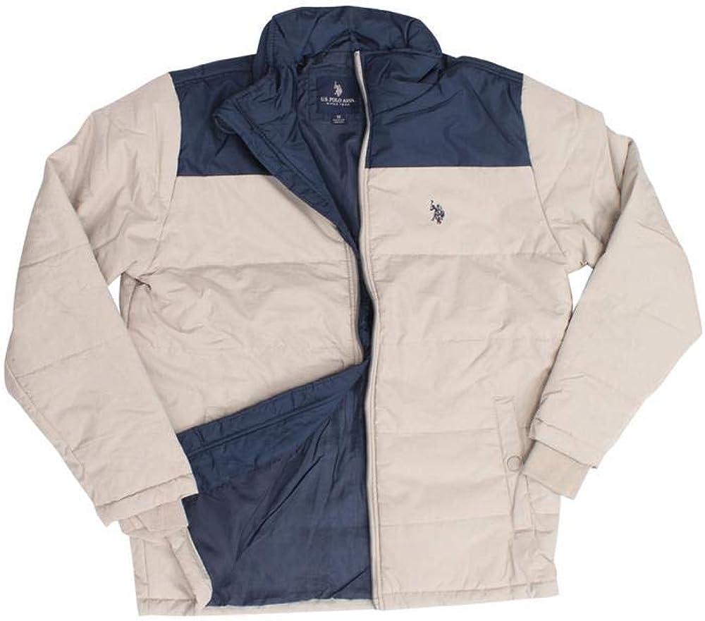 U.S. Polo Assn. mens Color Block Puffer Jacket