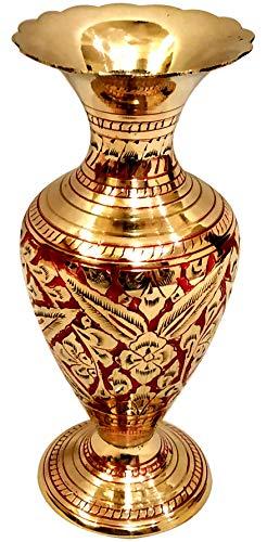 Brass Flower Vase - 6
