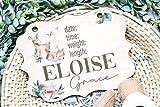 Hospital Door Hanger Girl Baby Deer Nursery Name Sign Birth Stats Sign Girl Hospital Door Wreath Announcement Sign New Baby Keepsake