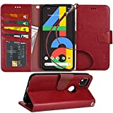 Arae Case for Google Pixel 4A PU Leather Wallet Case Cover [Stand...