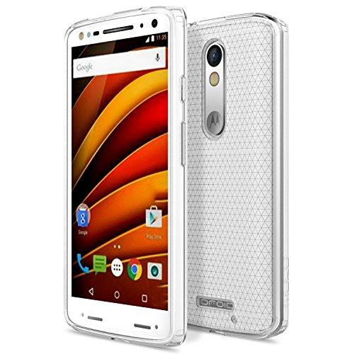 ivoler Hülle Case Kompatibel für Motorola Moto X Force, Premium Transparent Klare Tasche Schutzhülle Weiche TPU Silikon Gel Handyhülle Schmaler Cover