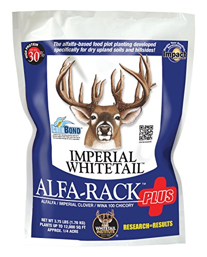 Whitetail Institute Imperial Alfa-Rack Plus Food Plot Seed (Spring and Fall Planting), 3.75-Pound (.25 Acres) (IAP3.75)