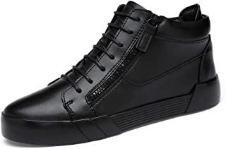 DADIJIER Zapatos de skate de alto para hombres Zapatillas de deporte con elevador de confort Cremallera lateral Tobillo an...