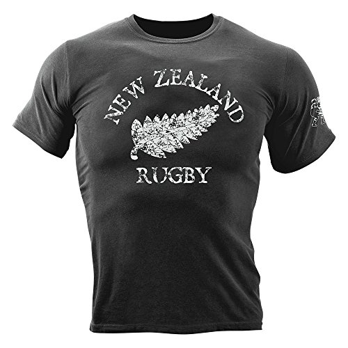 Rugby Imports NZ Garment-Dyed T-Shirt New Zealand X Large Black
