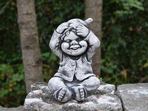 Sonderangebot: Stück 5 lustige kleine Gnome Trolle Wichtel aus Steinguss frostfest - 3