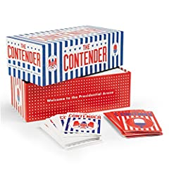 500 card deck in a patriotic box. No trivia, political knowledge, or Improvisation required. Omni-partisan; doesn't pick a side or let players pick sides. Family and school friendly. Contains real quotes from us politicians.