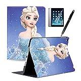 iPad Mini 5/iPad Mini 4ケース ディズ二ー アナと雪の女王 PU レザー スタンド機能付き オートスリープ機能付き 手帳 全面保護 きれい おしゃれ (iPad Mini 4/iPad Mini 5, color2)