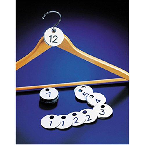 Garderobennummern, Zweifach 1-100 Ø 4,5 cm Weiss PVC - 1 Un.