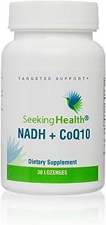 Seeking Health | NADH + CoQ10 Metabolic Support | 25 mg NADH + 50 mg CoQ10 Supplement | 30 Niacin Lozenges