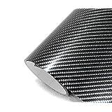 【IlMondoMall】 次世代の立体感 4D カーボンシート カーボンステッカー 汎用 152×200cm / 152×300cm (黒 152×300cm) 300cm 3m 300cm 3m