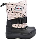 Stonz Trek Performance Snow Boot for Boys & Girls - Light-Weight, Insulated, Non-Slip, Rugged Winter Outdoor Hiking Play School Warm Liner, Haze Pink 2Y