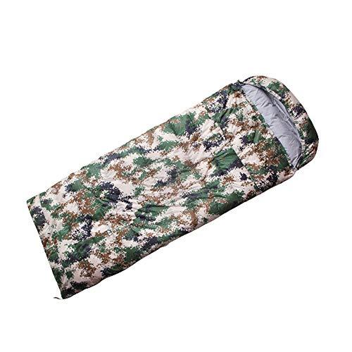 NINOMI Camouflage Schlafsack Outdoor Camping kann genäht Schlafsack warme Daunen Umschlag Typ Schlafsack,1KG