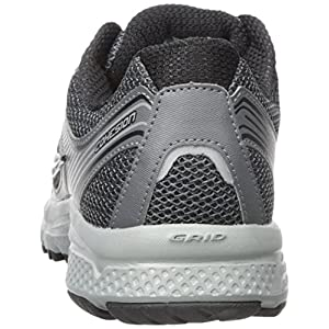 Saucony Men's Cohesion 10 Running Shoe, Charcoal/Grey, 10.5 Wide