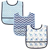 Luvable Friends Unisex Baby Waterproof PEVA Bibs, Boy Elephant, One Size