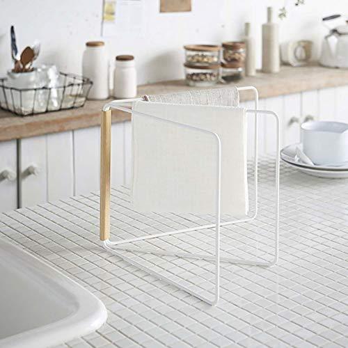 PUAK523 Faltbarer Handtuchhalter für die Arbeitsplatte, Edelstahl, 360 Grad erweiterter Handtuchständer, Küchen-/Geschirrtuch-Ständer, Siehe Abbildung, Free Size