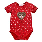 Bondi Body para bebé 'Princesa' de algodón I Bonito Body para niña en rojo I...