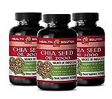 Chia Oil softgels - CHIA Seed Oil 2000 - Reduce Obesity (3 Bottles)