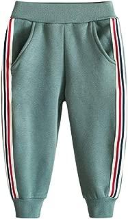 Fruitsunchen Little Boys' Girls' Cotton Fleece Pants Stripe Sweatpants Sport Active Jogger for 2-8T