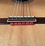 Alba Guitar Beads String Tie Guitar Retenedores de cuerda de nailon para guitarra acústica eléctrica clasica flamenco ukulele rojas
