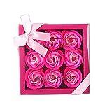 Xiton 1 Packung Rosen-Duftseifen badezusatz Rosenblüten Seife Geformte Seife Pflanze ätherisches...