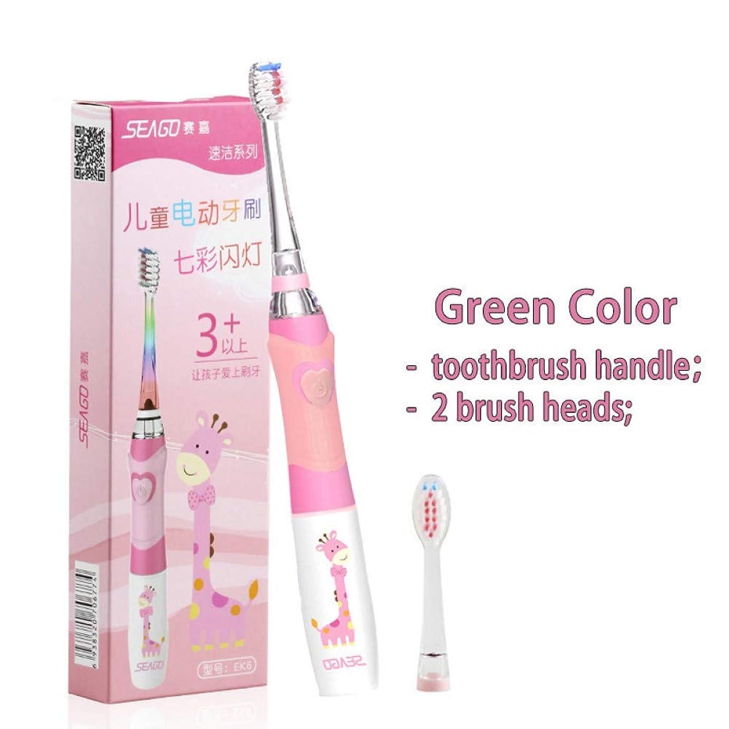 安価な機械的にもっともらしい子供の音波の電動歯ブラシの多彩な導かれた照明防水柔らかいブラシヘッド剛毛の歯の口頭心配、ピンク