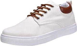 Zapatos Verano Hombre LANSKIRT Zapatillas Casual Hombre de Lona Calzado de Ocio para Estudiantes Cómodo Zapatos Combinados...
