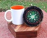 Infinity Healing Stones - New Black Tourmaline Water Charging Plate/Coaster Orgonite Coaster Plate Healing Crystals EMF Protector Charging Coaster Divination Home Decor