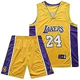 Basketball Jersey Lakers #24 Bryant Camiseta de Jugador de Baloncesto para Hombres, Camiseta con Bordado, Camiseta de los fanáticos, Chaleco Transpirable Deportivas de Jersey Swingman
