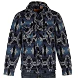 Powder River Outfitters Mens Aztec Commander Wool Blend Jacquard Jacket S Blue
