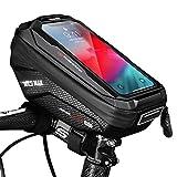 Faireach Sacoche Téléphone Vélo Etanche, Support Smartphone Universel Sacoche Vélo Guidon avec Écran Tactile Transparent, Support Vélo Cadre du VTT Moto Scooter pour Smartphone sous 6,5 Pouce