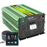 EDECOA 3500 Watt Pure Sine Wave Power Inverter DC 12V to 120V 110V AC with LCD AC Terminal Block (3500W/12V V3.1 ( ET-RC Remote))