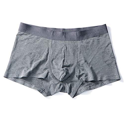 YUHUALI 2019 Automne Nouveaux sous-vêtements sans Couture Jeunesse Mince Cool Respirant Boxer Gris XL